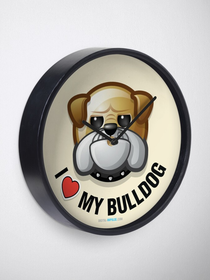 Alternate view of I Love My Bulldog Clock