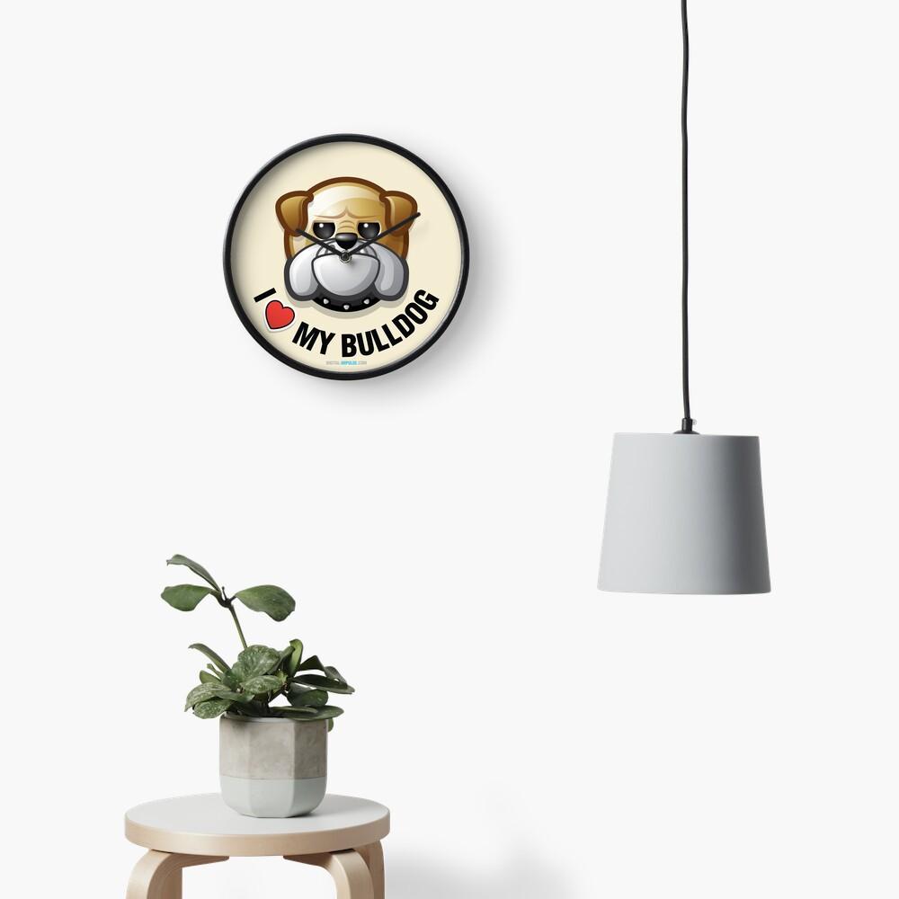 I Love My Bulldog Clock