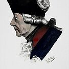 Frederick the Great in profile,  by Georg Schöbel by edsimoneit