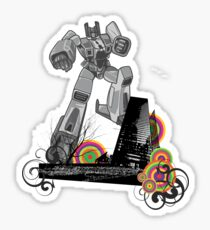 Attack of The Robot Sticker