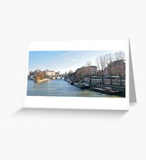 The River Seine 2 Greeting Card
