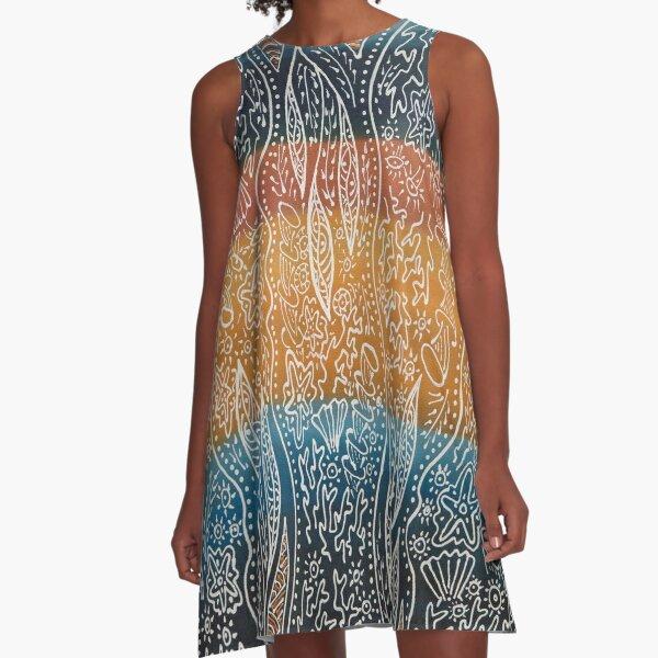 Rainforest Meets The Reef A-Line Dress