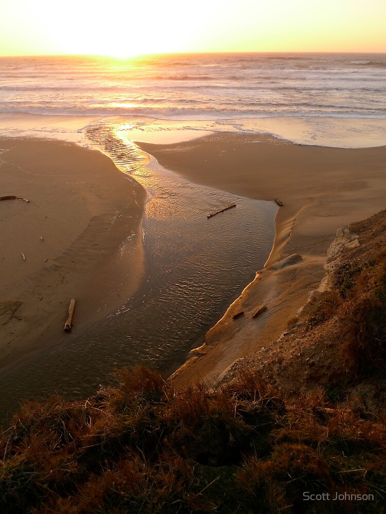 Pacific Sunset Tide by Scott Johnson