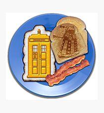 Whovian Breakfast Photographic Print