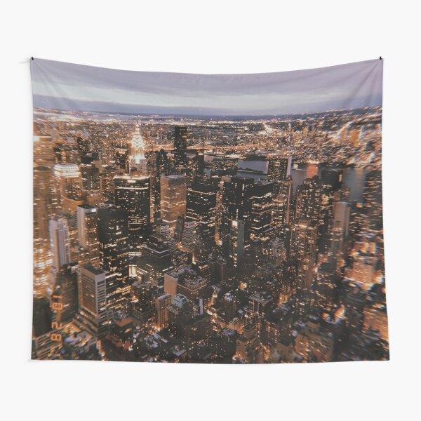 New York at Night Tapestry