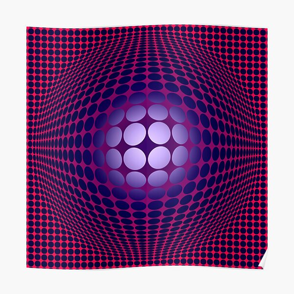 Victor Vasarely Homage 28 Poster