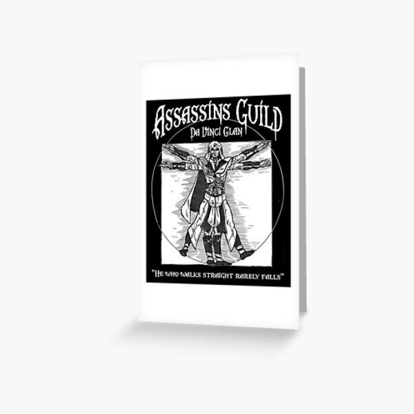 Assassins Guild - Da Vinci Clan Greeting Card