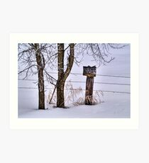 Wide but not so Open Spaces Art Print