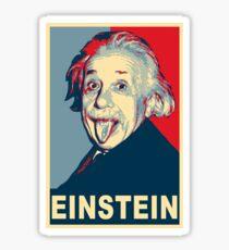 Albert Einstein Portrait pulling tongue Campaign Design  Sticker