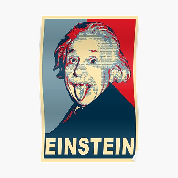 Albert Einstein Portrait tirant la langue Conception de la campagne Poster