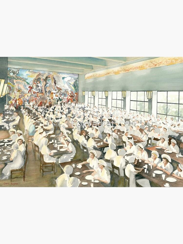 The Marabou Staff Dining Hall, Sundbyberg, Sweden, circa 1940 by tiokvadrat