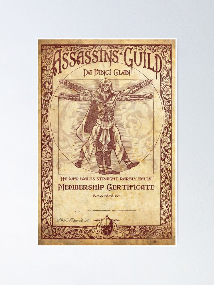 Alternate view of Assassins Guild - Da Vinci Clan Poster