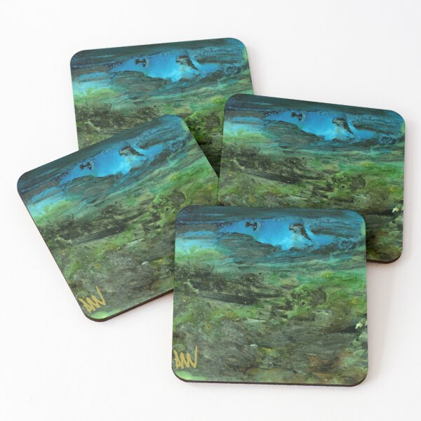 Under the neon moon Coasters (Set of 4)