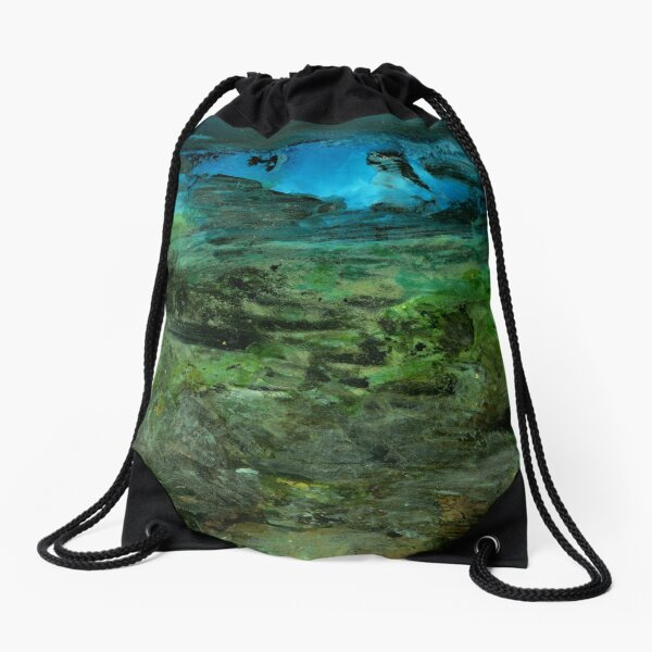 Under the neon moon Drawstring Bag