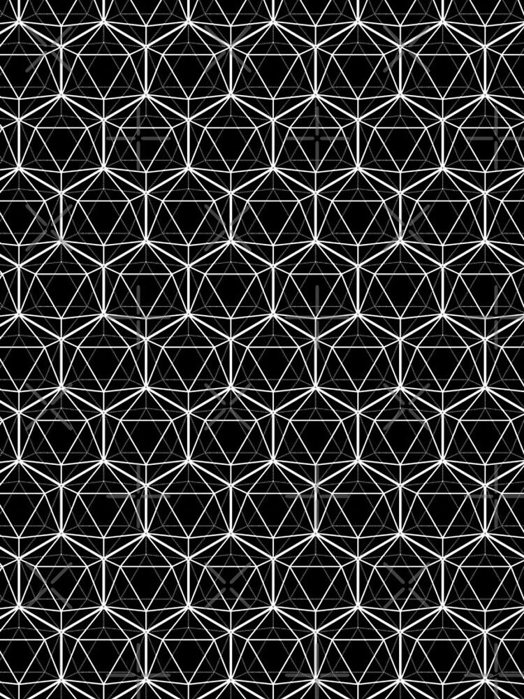 Icosahedron Black by beththompsonart