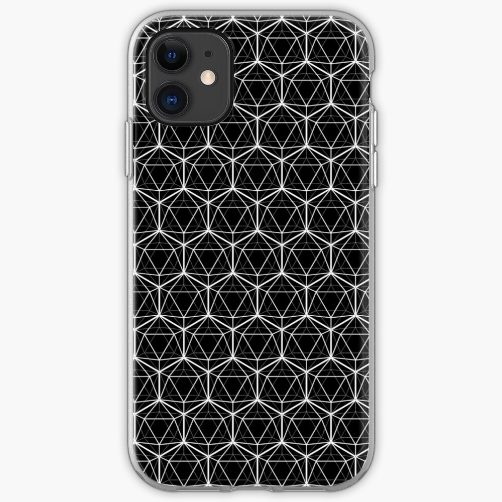 Icosahedron Black iPhone Case & Cover