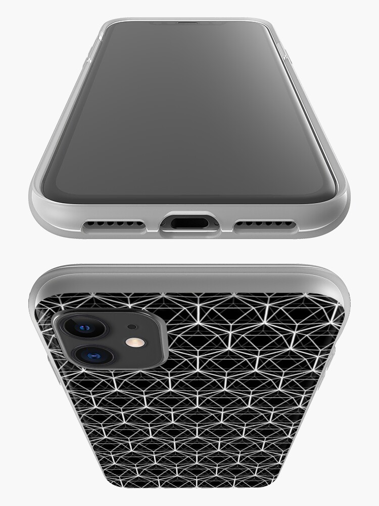 Alternate view of Icosahedron Black iPhone Case & Cover