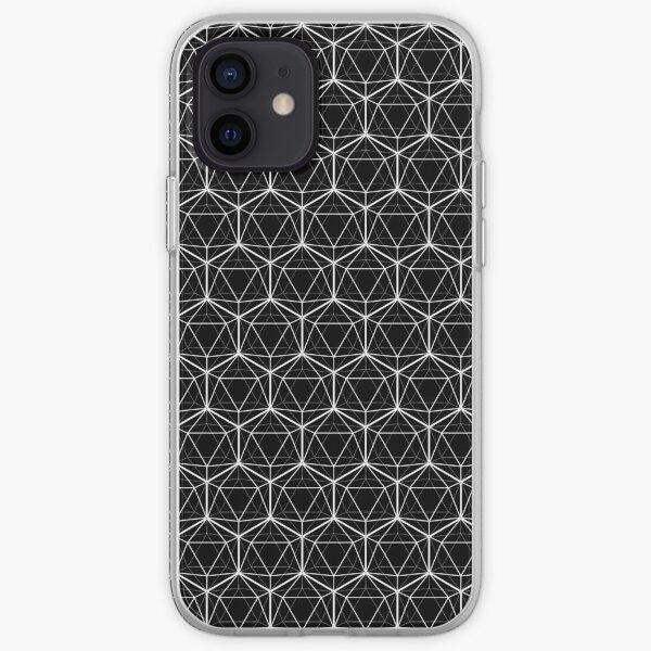 Icosahedron Black iPhone Soft Case