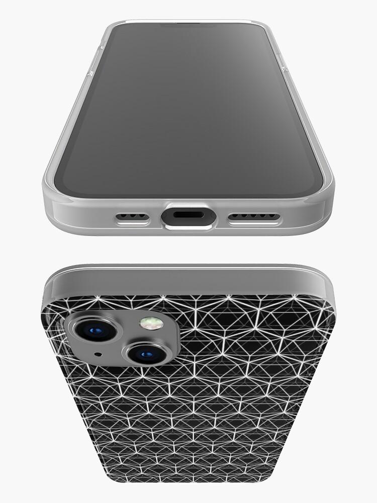 Alternate view of Icosahedron Black iPhone Case