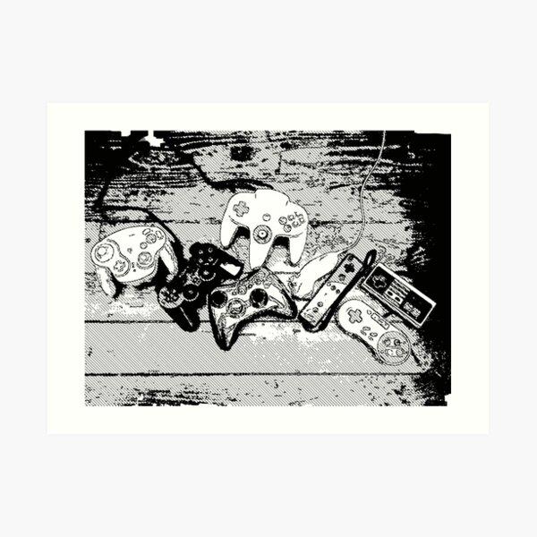 Collection de manettes - Joysticks collection Impression artistique