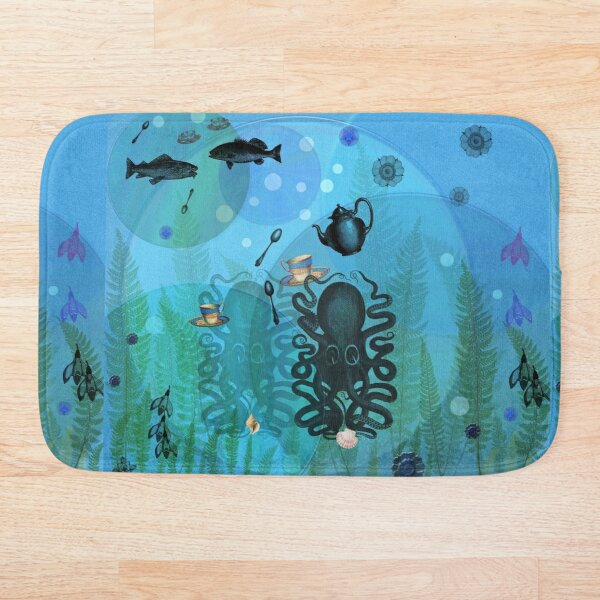 Under The Sea In Time For Tea Bath Mat