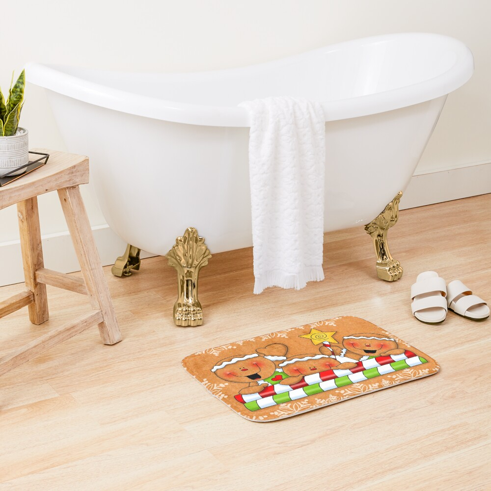 Holiday Gingerbread and Spice Bath Mat