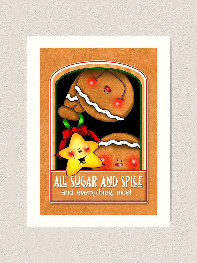 Alternate view of Holiday Gingerbread and Spice Art Print