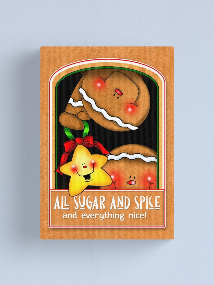 Alternate view of Holiday Gingerbread and Spice Canvas Print