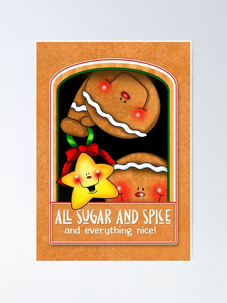 Alternate view of Holiday Gingerbread and Spice Poster
