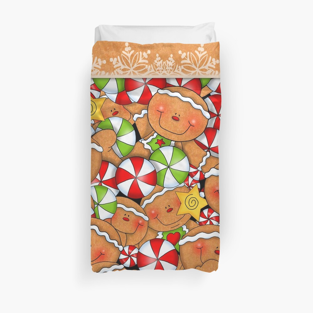 Holiday Gingerbread and Spice Duvet Cover