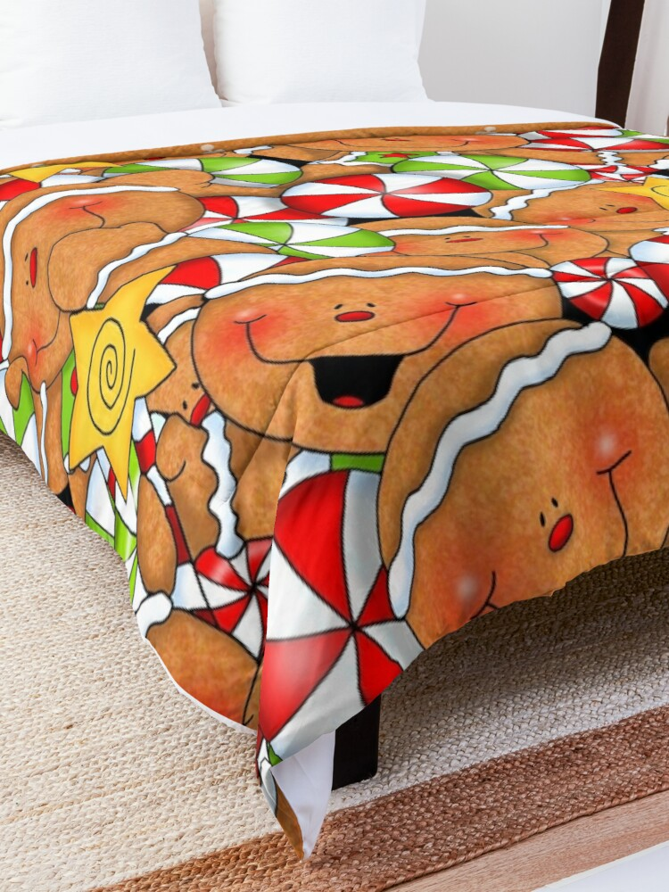 Alternate view of Holiday Gingerbread and Spice Comforter