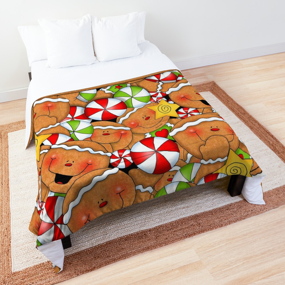 Holiday Gingerbread and Spice Comforter
