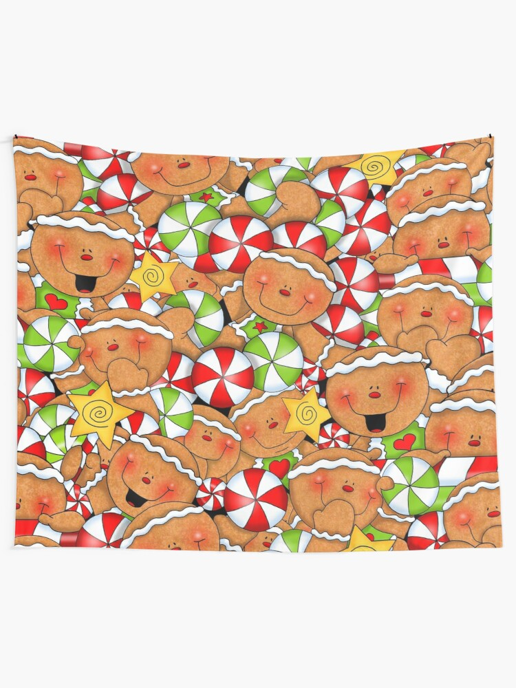 Alternate view of Holiday Gingerbread and Spice Tapestry