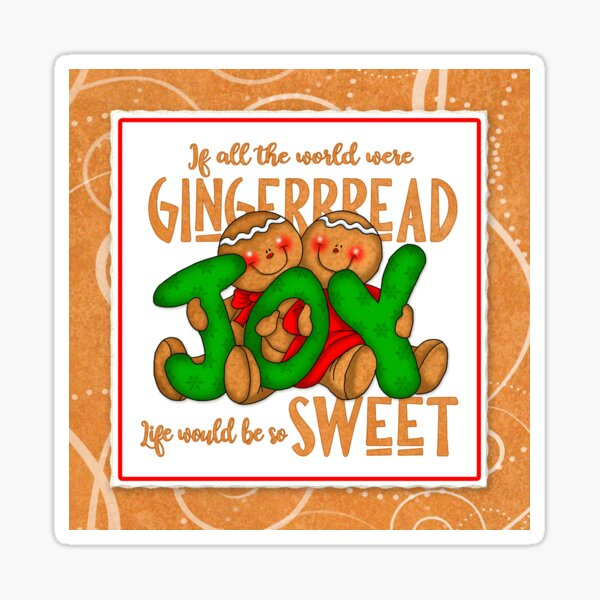 Holiday Gingerbread and Spice Sticker