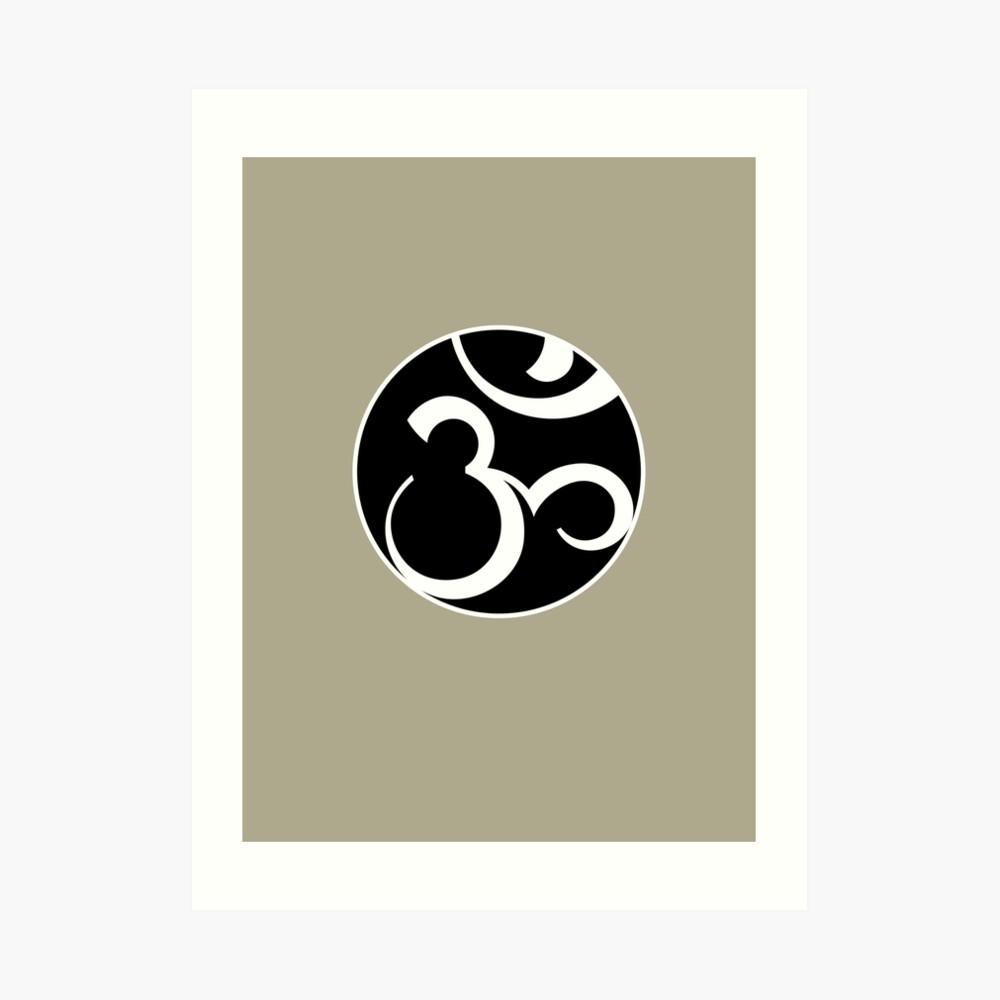 Stylized OM Syllable Mandala Art Print