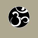 Stylized OM Syllable Mandala by Thoth Adan