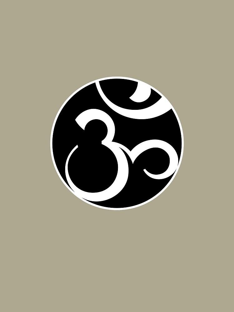 Stylized OM Syllable Mandala by Thoth-Adan