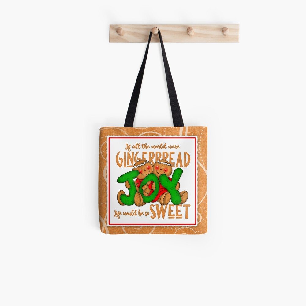 Holiday Gingerbread and Spice Tote Bag
