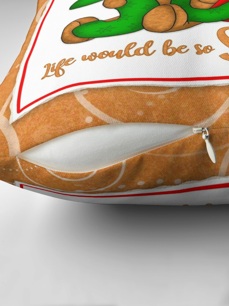 Alternate view of Holiday Gingerbread and Spice Throw Pillow