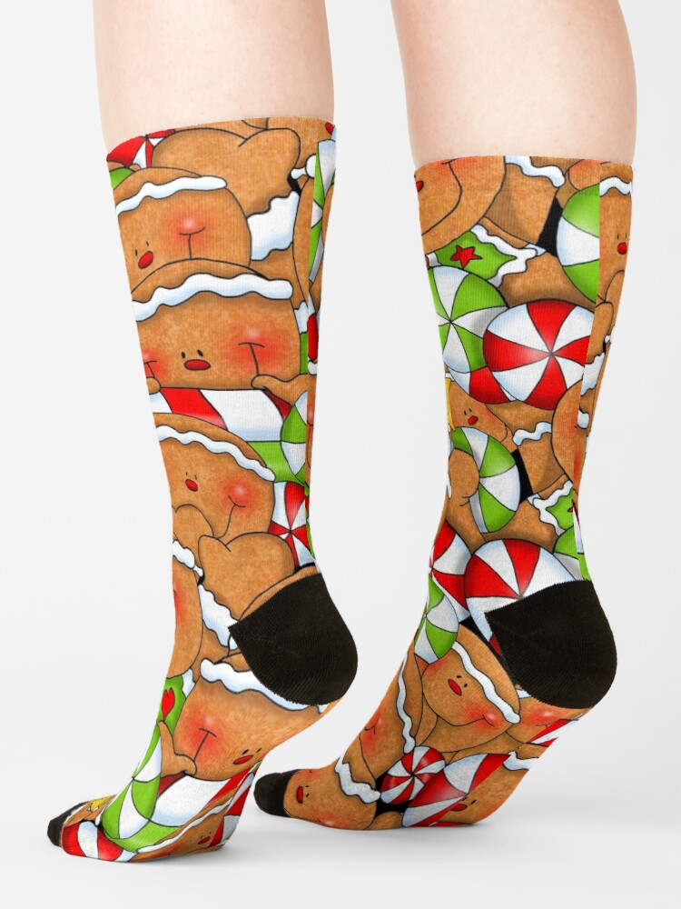 Alternate view of Holiday Gingerbread and Spice Socks