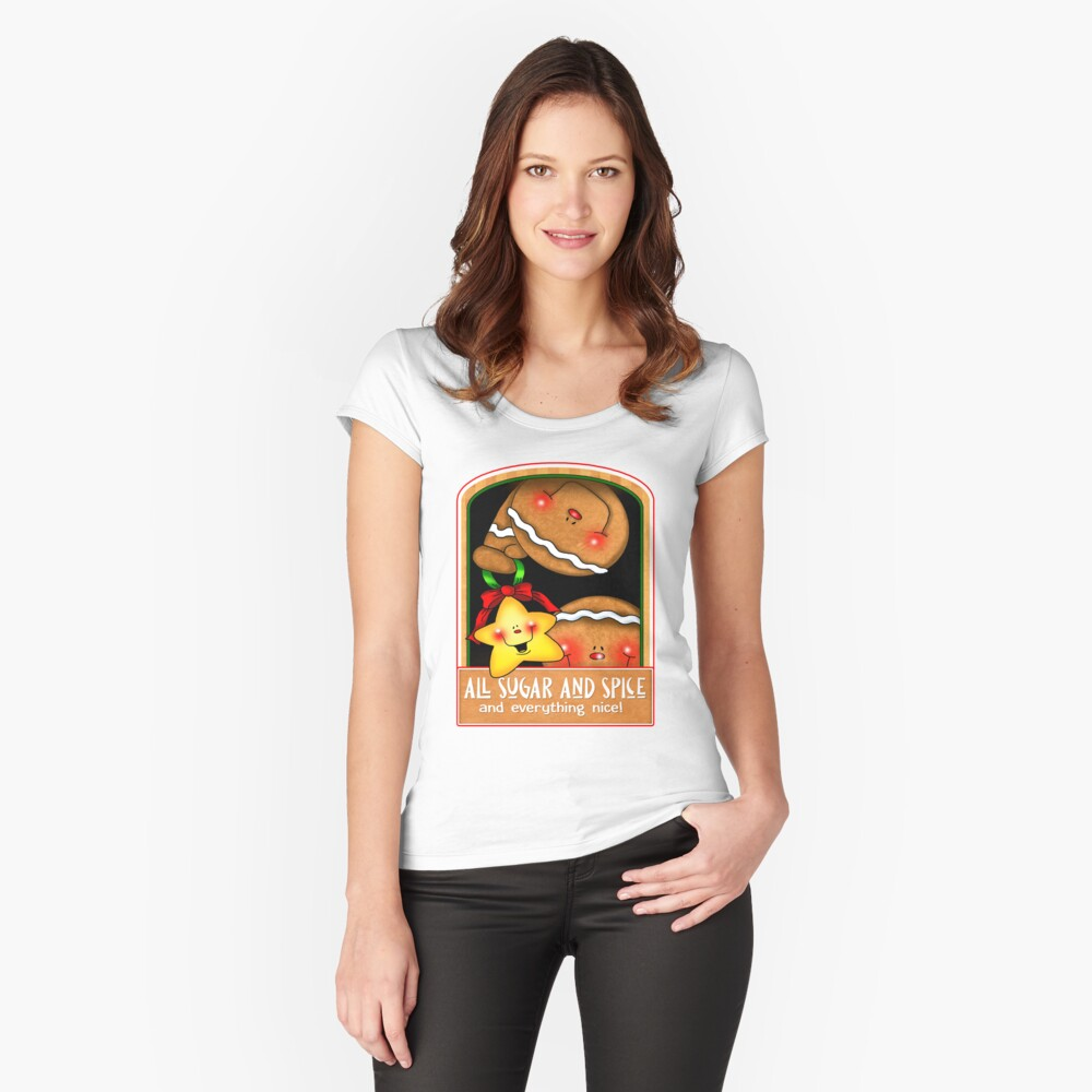 Holiday Gingerbread and Spice Fitted Scoop T-Shirt