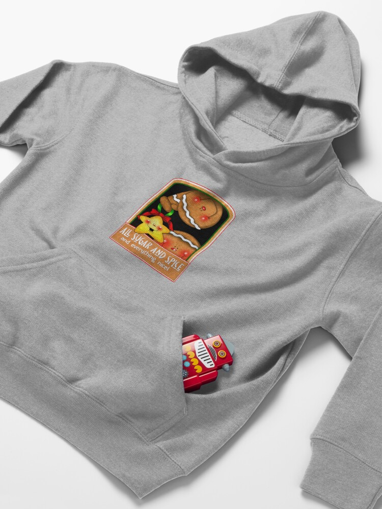 Alternate view of Holiday Gingerbread and Spice Kids Pullover Hoodie