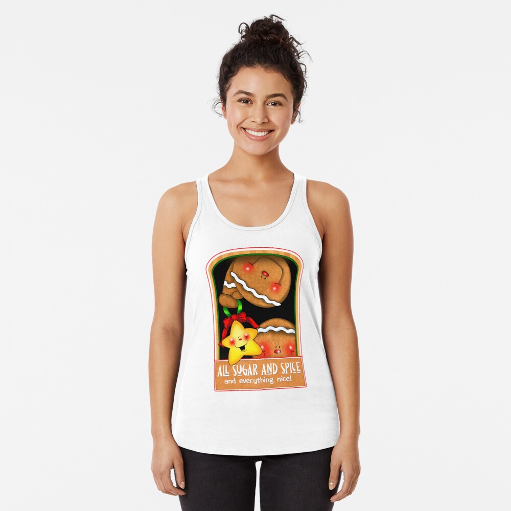 Holiday Gingerbread and Spice Racerback Tank Top
