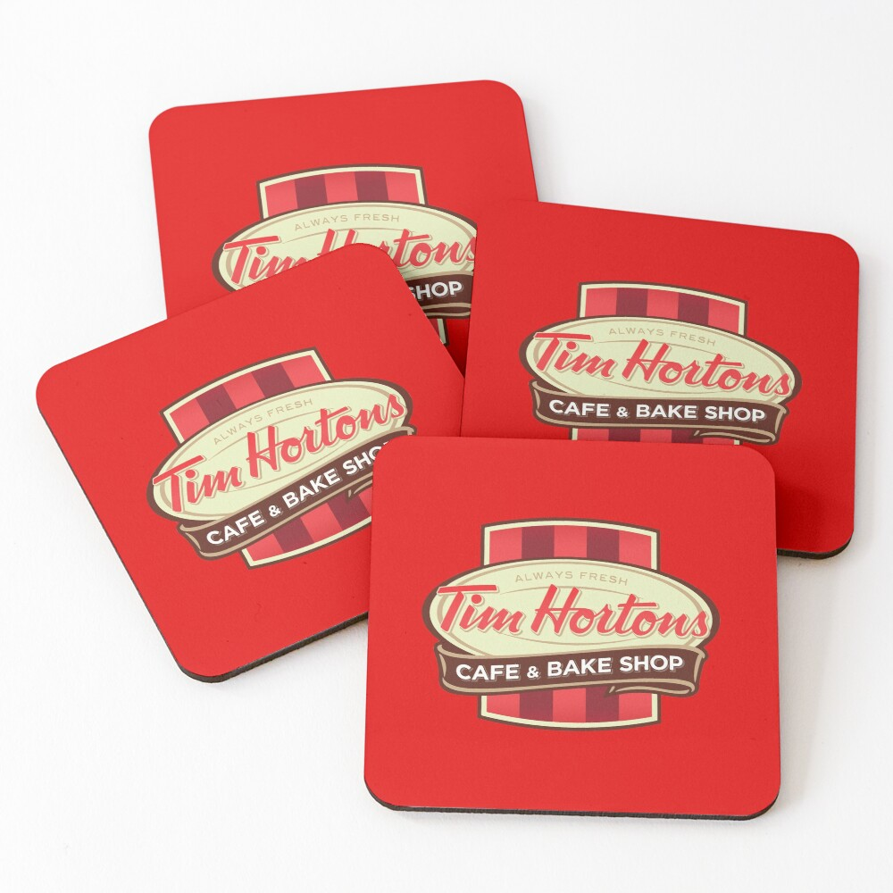 Tim Hortons Canadian Coffee Chain design Coasters (Set of 4)