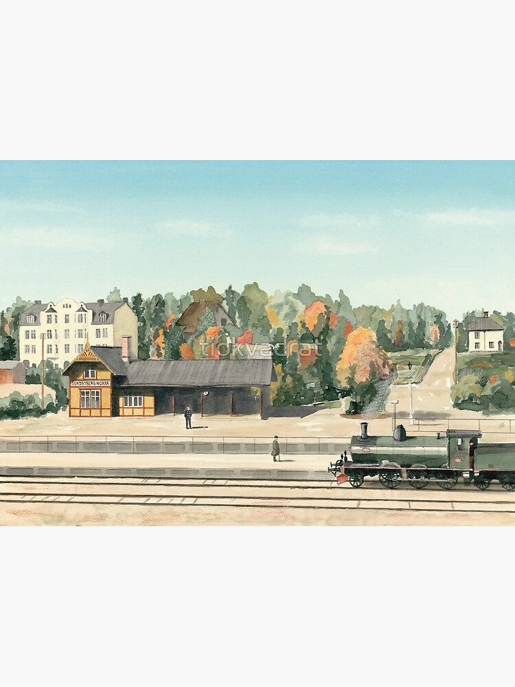 Sundbyberg North Railway Station, Sweden, circa 1910 by tiokvadrat