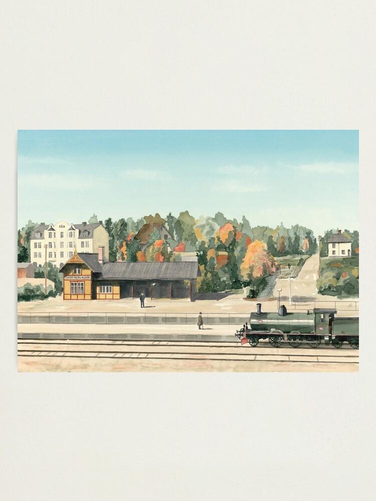 Alternate view of Sundbyberg North Railway Station, Sweden, circa 1910 Photographic Print