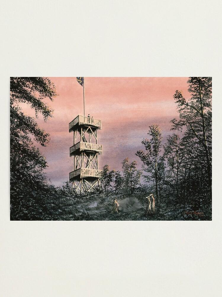 Alternate view of Duvbo Watchtower, Sundbyberg, Sweden, circa 1904 Photographic Print