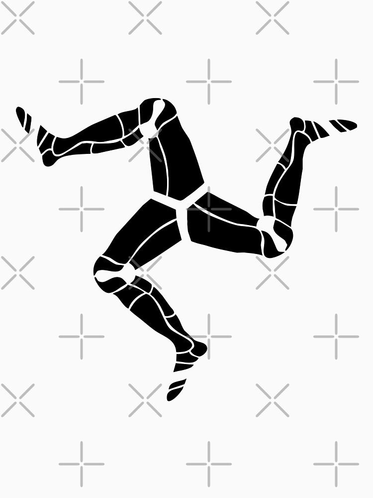3 legs of Man, Isle of Man symbol by tribbledesign