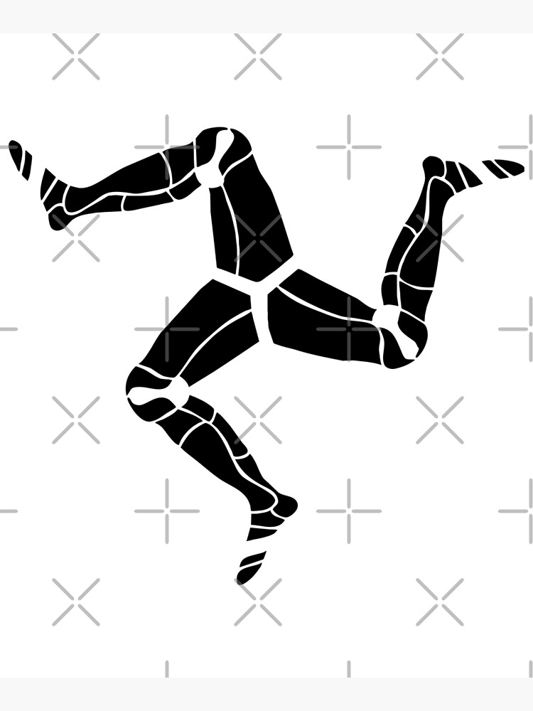 3 legs of Man, Isle of Man symbol by tribbledesign
