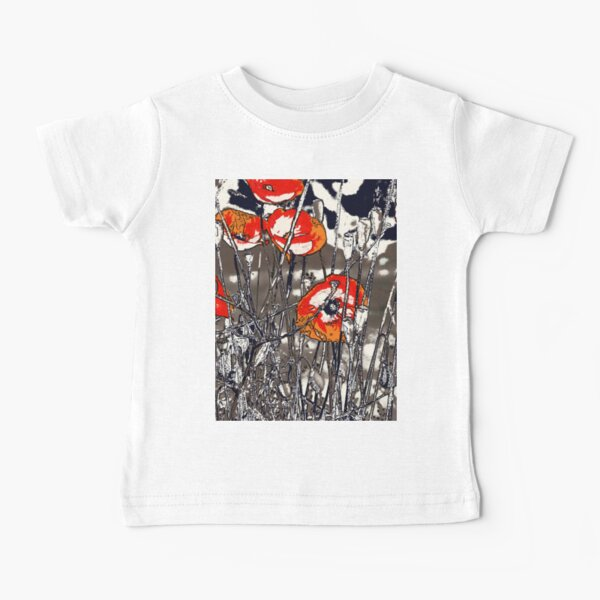 Wild poppies from the meadow flowers bywhacky  Baby T-Shirt